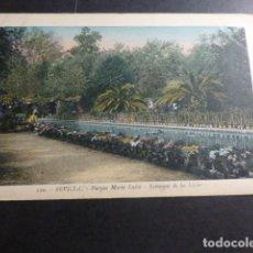 Postales: SEVILLA PARQUE DE MARIA LUISA ESTANQUE DE LOS LIRIOS. Lote 175337029
