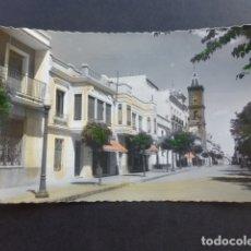 Postales: PEÑARROYA PUEBLONUEVO CORDOBA PLAZA DE SANTA BARBARA Y CALLE DE QUEIPO DE LLANO POSTAL FOTOGRAFICA. Lote 175528993