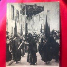 Postales: POSTAL SEVILLA SEMANA SANTA NAZARENOS JOAQUIN SOROLLA PENITENTES HSA 1923 HISPANIC SOCIETY AMERICA. Lote 175715504