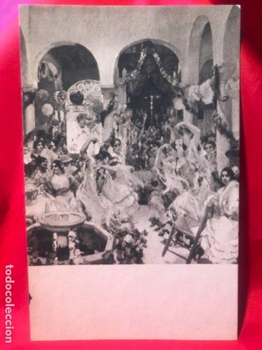 POSTAL SEVILLA FERIA EL BAILE JOAQUIN SOROLLA PROVINCES OF SPAIN HSA 1923 HISPANIC SOCIETY AMERICA (Postales - España - Andalucía Antigua (hasta 1939))