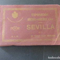Postales: SEVILLA EXPOSICION IBERO AMERICANA CUADERNO 20 POSTALES COMPLETO. Lote 175969704