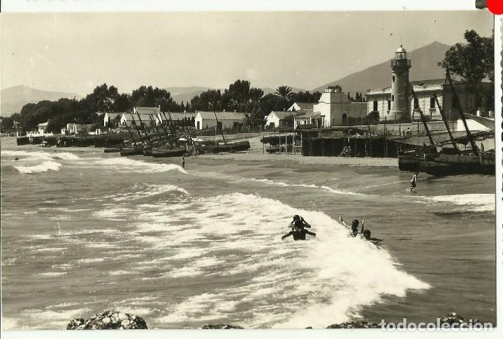 MARBELLA, DETALLE DE LA PLAYA DEL FARO, EDIC. ARRIBAS (Postales - España - Andalucia Moderna (desde 1.940))