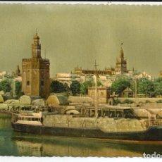 Postales: POSTAL SEVILLA - TORRE DEL ORO - EN RELIEVE (FOTO-RELIEVE CASA PINTO). Lote 176016144