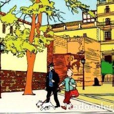 Postales: POSTAL TINTIN EN JEREZ. PUERTA DEL ALCAZAR. REPRODUCCION DE LA OBRA DE IÑAKI BLANCO. Lote 176570675