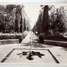 Postales: FOTO POSTAL DE SEVILLA. JARDINES DEL ALCÁZAR. EDICIONES UNIQUE. ESCRITA. Lote 176892273