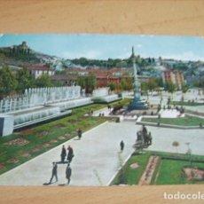 Postales: GRANADA -- JARDINES Y FUENTE MONUMENTAL DEL TRIUNFO. Lote 176903592