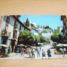 Postales: REALEJO ( GRANADA ) CALLE TIPICA EN DIA DE MERCADO. Lote 176904298