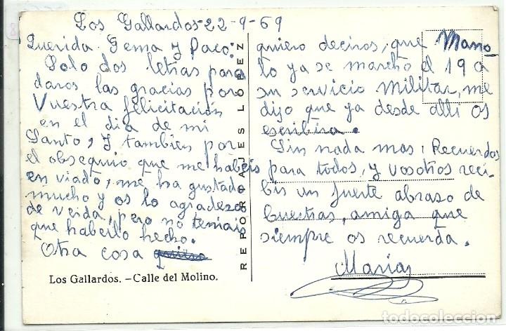 Postales: (PS-61788)POSTAL DE LOS GALLARDOS(ALMERIA)-CALLE DEL MOLINO.CASA DEL MEDICO A BOLIGRAFO - Foto 2 - 177408009