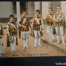 Postales: ANTIGUA POSTAL CPA LOS SEISES DE LA CATEDRAL SEVILLA, REVERSO SIN DIVIDIR,CIRCULADA, VER FOTOS. Lote 178400486