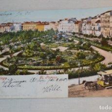 Postales: ANTIGUA / DIFÍCIL POSTAL CIRCULADA - MÁLAGA / EL PARQUE -- PRINCIPIOS 1900 ¡MIRA!. Lote 178595122