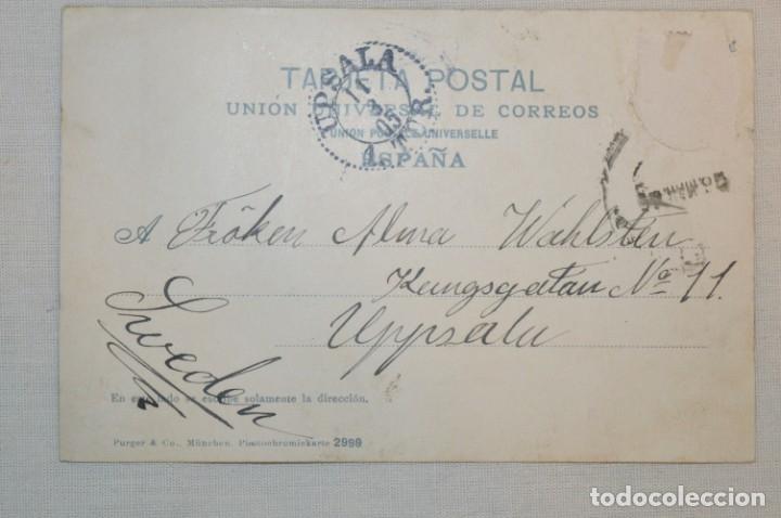 Postales: ANTIGUA / DIFÍCIL POSTAL CIRCULADA - MÁLAGA / EL PARQUE -- Principios 1900 ¡Mira! - Foto 2 - 178595122