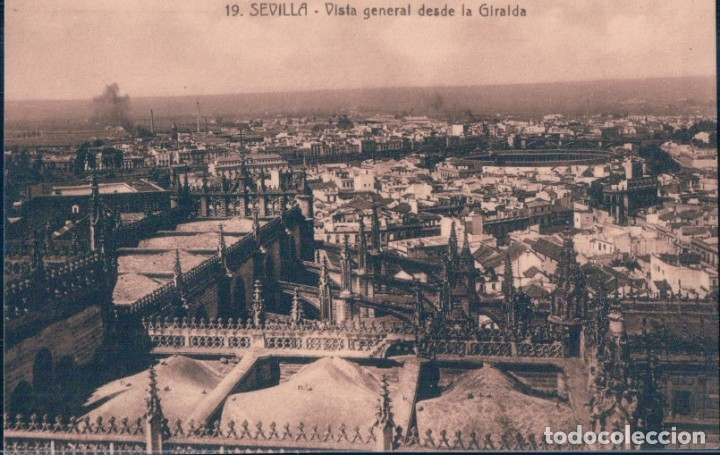 POSTAL SEVILLA - VISTA GENERAL DESDE LA GIRALDA 19 - ABELARDO LINARES (Postales - España - Andalucía Antigua (hasta 1939))