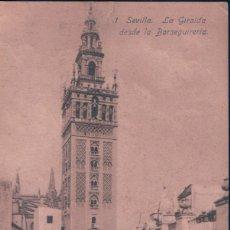 Postales: POSTAL SEVILLA - LA GIRALDA DESDE LA BARSEGUERIA- 1 LINARES. Lote 179000877