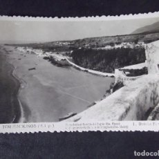 Postales: MALAGA-V12-SIGLOXX-14X9CM-TORREMOLINOS-PLAYA DESDE EL CASTILLO DEL INGLES-SANTA CLARA-FOTO L.ROISIN. Lote 179059557