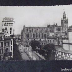 Postales: SEVILLA-V12-SIGLOXX-14X9CM-CATEDRAL Y AVENIDA DE JOSE ANTONIO-HELIOTIPIA ARTISTICA ESPAÑOLA. Lote 179060497