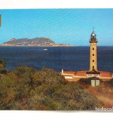 Postales: TARJETA POSTAL - ALGECIRAS CADIZ - FARO PUNTA CARNERO AL FONDO PEÑÓN DE GIBRALTAR. Lote 179181030