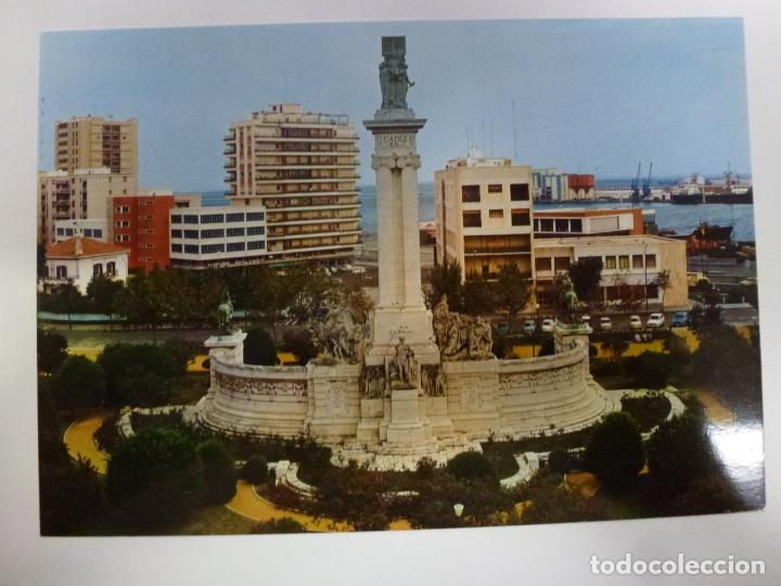 POSTAL. 92. CÁDIZ. PLAZA DE ESPAÑA. MONUMENTO A LAS CORTES. ED. SICILIA. NO ESCRITA. (Postales - España - Andalucia Moderna (desde 1.940))