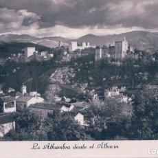 Postales: POSTAL GRANADA - LA ALHAMBRA DESDE EL ALBAICIN - 1 . Lote 179331181