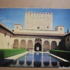 Postales: GRANADA. PATIO DE LOS ARRAYANES Y TORRE DE COMARES. ED. ROSSETE 10. NUEVA. Lote 179335110