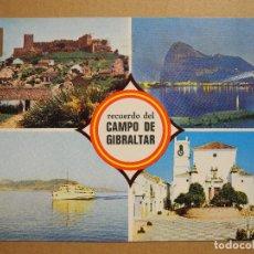 Postales: CAMPO DE GIBRALTAR. DIVERSOS ASPECTOS. ED. SUBIRATS CASANOVAS 3 ESCRITA. Lote 179335327
