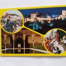 Postales: TARJETA POSTAL - GRANADA LA ALHAMBRA SERIE 45 Nº 205 VISTA GENERAL . Lote 179517982