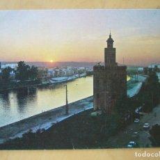Postales: SEVILLA - TORRE DEL ORO. RIO GUADALQUIVIR. CREPUSCULO. Lote 179956595