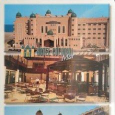Postales: ROQUETAS DE MAR (ALMERÍA). HOTEL COLONIAL MAR. NUEVA. COLOR. DORSO CON SEÑALES DE HABER ESTADO PEGAD. Lote 180012355