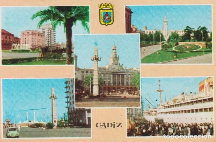 CADIZ, VARIAS VISTAS - FOTO COLOR LLOPIS MOD. 354 - CIRCULADA (Postales - España - Andalucia Moderna (desde 1.940))