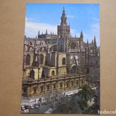 Postales: SEVILLA. CATEDRAL Y GIRALDA. ED. RO 176 CIRCULADA 1962. Lote 180034942