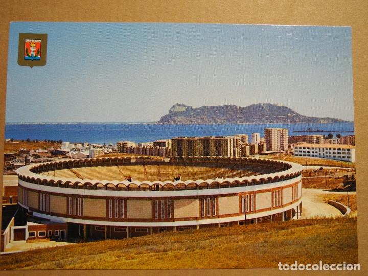 ALGECIRAS VISTA PARCIAL CON LA NUEVA PLAZA DE TOROS Y AL FONDO PEÑÓN DE GIBRALTAR SUBIRATS 96 NUEVA (Postales - España - Andalucia Moderna (desde 1.940))