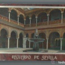 Postales: ÁLBUM MODERNISTA. RECUERDO DE SEVILLA. 50 POSTALES. SEVILLA Y SUS GENTES.. Lote 180075230
