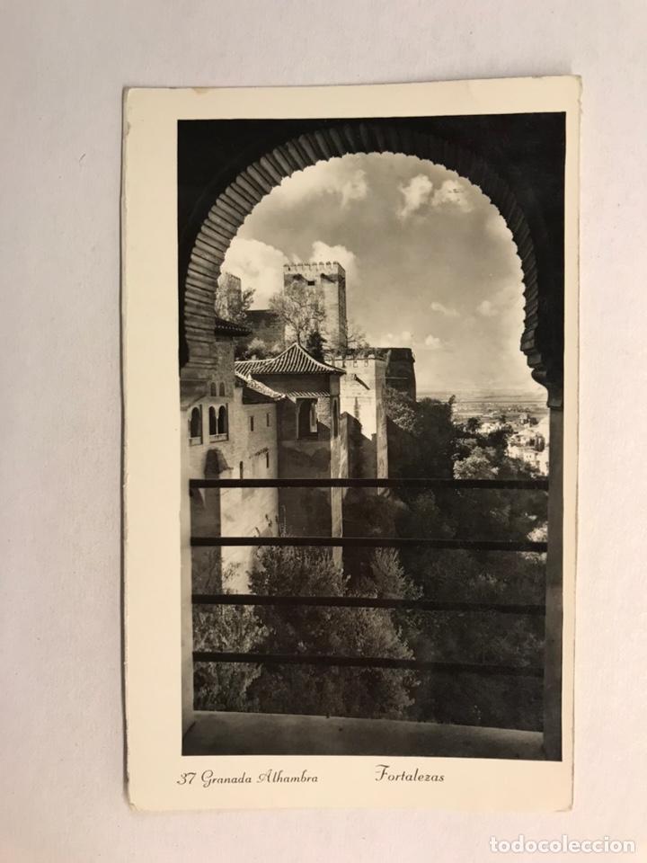 GRANADA - ALHAMBRA. POSTAL NO.37, FORTALEZAS. SIN IDENTIFICAR EDITOR (H.1950?) CIRCULADA (Postales - España - Andalucia Moderna (desde 1.940))