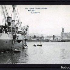 Postales: MALAGA-POSTAL DE HAUSER Y MENET-EL PUERTO Nº1437-VER FOTO ADICIONAL REVERSO-LEER DESCRIPCIÓN .. Lote 180104960