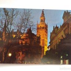Postales: TARJETA POSTAL - SEVILLA - CATEDRAL Y LA GIRALDA ILUMINADA 208. Lote 180112078