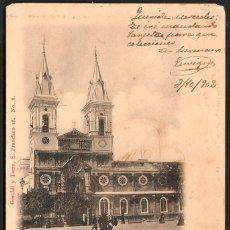 Postales: TARJETA POSTAL CÁDIZ: IGLESIA DE SAN ANTONIO./ GERALDI Y TORRE Nº 8./AÑO 1902.. Lote 180147307