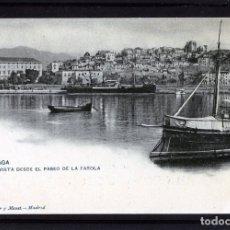 Postales: MALAGA-POSTAL DE HAUSER Y MENET-VISTA DESDE EL PASEO LA FAROLA Nº69-VER FOTO ADICIONAL DEL REVERSO .. Lote 180151536