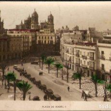 Postales: TARJETA POSTAL CÁDIZ Nº 4: PLAZA ISABEL II, COLOREADA./ L.ROISÍN, FOT./ PRINCIPIOS DE S.XX.. Lote 180161626