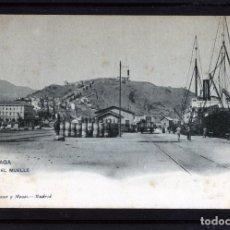 Postales: MALAGA-POSTAL DE HAUSER Y MENET-EL MUELLE Nº1436-VER FOTO ADICIONAL DEL REVERSO-LEER DESCRIPCIÓN .. Lote 180162636