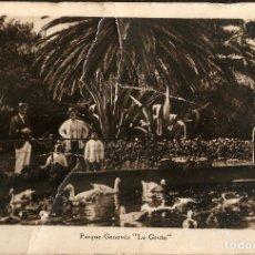 Postales: TARJETA POSTAL CÁDIZ: PARQUE GENOVÉS ``LA GRUTA``./ ALFA-EXPOSICIÓN POSTAL.. Lote 180182145