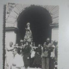 Postales: BAEZA, JAÉN - ERMITA DE LA YEDRA - ANTIGUA POSTAL FOTOGRÁFICA - SALIDA EN PROCESIÓN DE LA VIRGEN. Lote 180206907