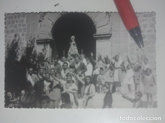 BAEZA, JAÉN - ERMITA DE LA YEDRA - ANTIGUA POSTAL FOTOGRÁFICA - ANIMADÍSIMA, SALUDOS ... C. CRUZ (Postales - España - Andalucia Moderna (desde 1.940))