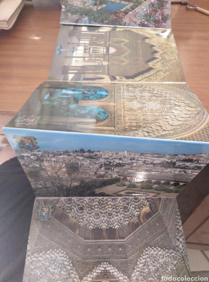 Postales: Granada La Alhambra desplegable acordeón 10 postales color Zerkowitz. 1974. Serie 45. - Foto 3 - 180233496