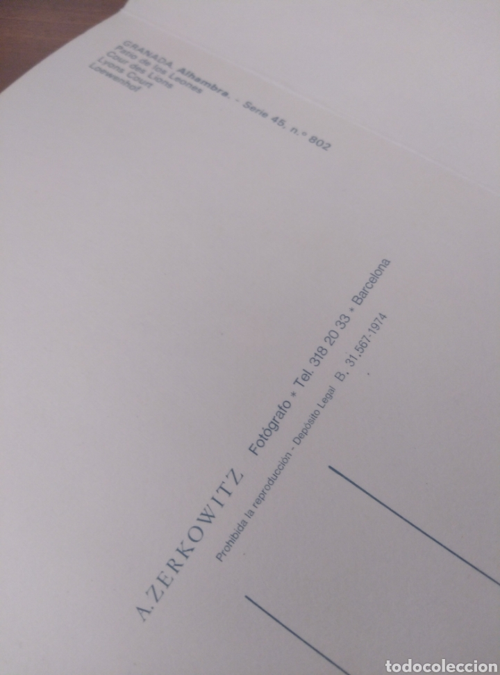 Postales: Granada La Alhambra desplegable acordeón 10 postales color Zerkowitz. 1974. Serie 45. - Foto 4 - 180233496