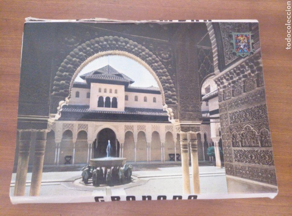 GRANADA LA ALHAMBRA DESPLEGABLE ACORDEÓN 10 POSTALES COLOR ZERKOWITZ. 1974. SERIE 45. (Postales - España - Andalucia Moderna (desde 1.940))