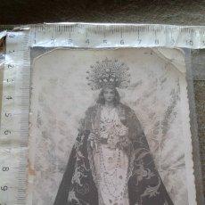 Postales: ROTA - CADIZ - FOTO POSTAL CON IMAGEN DE NTRA SRA DEL ROSARIO - PATRONA DE LA LOCALIDAD. Lote 180253253