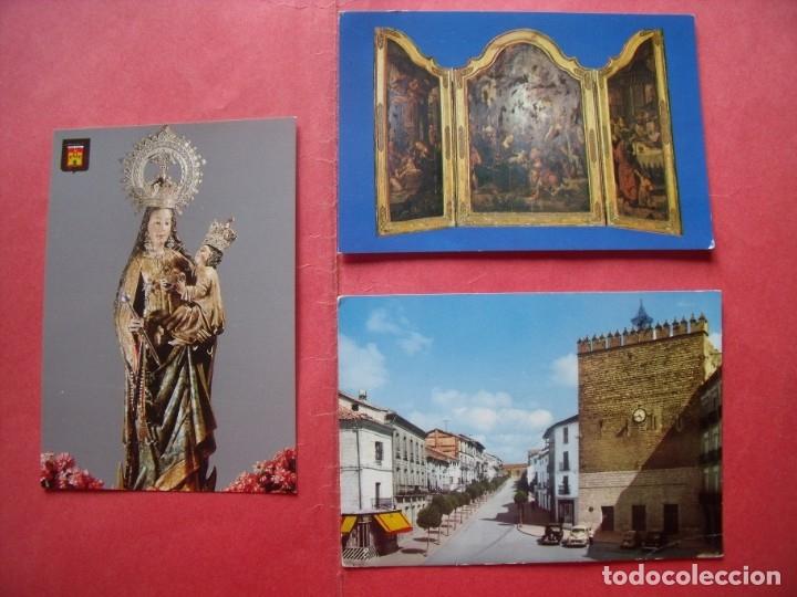 BAEZA.-POSTALES.-VIRGEN DEL ALCAZAR.-TRIPTICO FLAMENCO.-PLAZA JOSE ANTONIO-.LOTE DE 3 POSTALES. (Postales - España - Andalucia Moderna (desde 1.940))