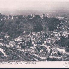 Postales: POSTAL GRANADA - VISTA GENERAL Y ALHAMBRA - ROISIN - 213. Lote 180324106