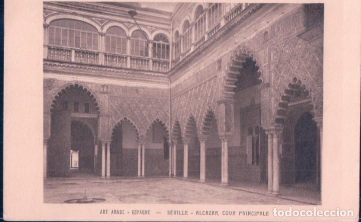 POSTAL SEVILLE - ALCAZAR - COUR PRINCIPALE - ART ARABE - BRAUN & CIE - SEVILLA (Postales - España - Andalucía Antigua (hasta 1939))