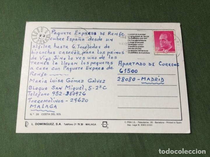 Postales: BONITA POSTAL- COSTA DEL SOL - LA DE LA FOTO VER TODOS MIS LOTES DE POSTALES - Foto 2 - 180328945
