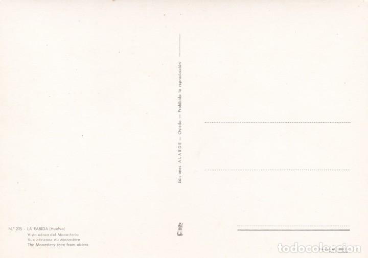 Postales: POSTAL VISTA AEREA DEL MONASTERIO. LA RABIDA. HUELVA - Foto 2 - 180349818